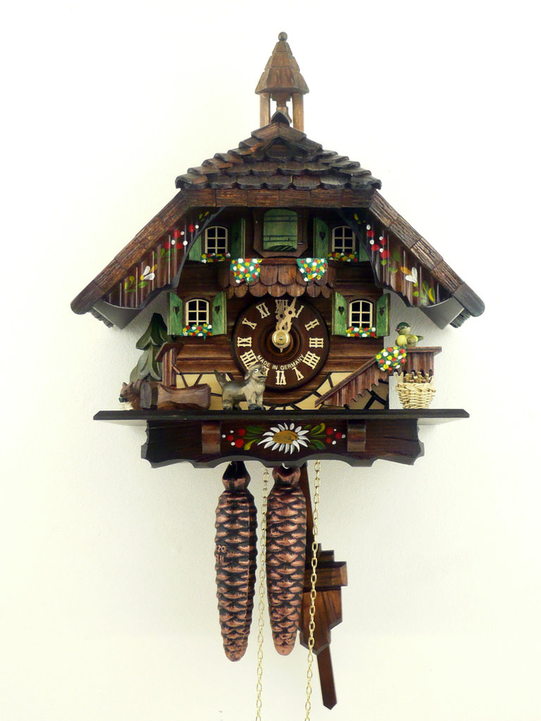 Cuckoo clock lovely hand painted cuckoo clock with belfry - Colorful cuckoo clock ...