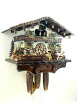 Handpainted, bavarian Chalet with beerdrinkers