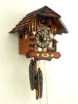 Handpainted half-timbered clock with shingleroof